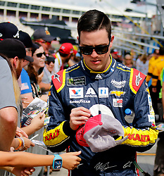 September 30, 2018 - Charlotte, NC, U.S. - CHARLOTTE, NC - SEPTEMBER 30:  #88: Alex Bowman, Hendrick Motorsports, Chevrolet Camaro Axalta during the running of the Inagural Bank of America ROVAL 400 on Sunday September 30, 2018 at Charlotte Motor Speedway in Concord North Carolina  (Photo by Jeff Robinson/Icon Sportswire) (Credit Image: © Jeff Robinson/Icon SMI via ZUMA Press)