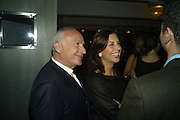 FREDDIE AND MURIEL SALEM, Frieze Cartier Dinner. Shoreditch House. London. 11 October 2007. -DO NOT ARCHIVE-© Copyright Photograph by Dafydd Jones. 248 Clapham Rd. London SW9 0PZ. Tel 0207 820 0771. www.dafjones.com.