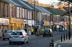 Traffic in Wallsend High Street; Tyneside; NE England