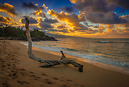Sunset on the North shore of Maui, Hawaii.