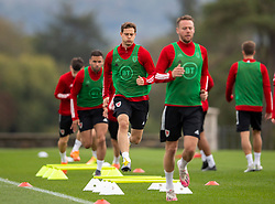 CARDIFF, WALES - Wednesday, September 2, 2020: Wales' James Lawrence during a training session at the Vale Resort ahead of the UEFA Nations League Group Stage League B Group 4 match between Finland and Wales. (Pic by David Rawcliffe/Propaganda)