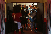 Players in the tunnel before the EFL Sky Bet League 2 match between Walsall and Crawley Town at the Banks's Stadium, Walsall, England on 18 January 2020.