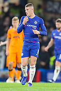 Chelsea midfielder Ross Barkley (8) during the Champions League group stage match between Chelsea and PAOK Salonica at Stamford Bridge, London, England on 29 November 2018.