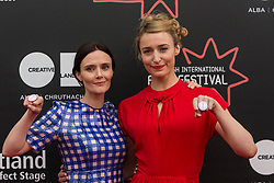 Photo-opportunity for The Dark Mile directed by Gary Love at the Edinburgh International Film Festival<br /> <br /> Pictured: Rebecca Calder, Deirdre Mullins