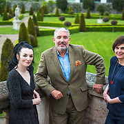 Artist Aideen Barry with John Cunningham and fellow artist, Sarah Pierce  at the launch of IMMA 1000. Photography by Ruth Medjber