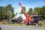 Jämtland, SVERIGE - 18 MAJ 2019: Ivers Tungbärgning visade hur man bärgar en lastbil. (Foto: Per Danielsson/Projekt.P ) <br /> <br /> Nyckelord Keywords: Springmeet 2019, Ope Flygfält,