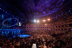 A general view of the Royal Albert Hall in London during a star-studded concert to celebrate the Queen's 92nd birthday.
