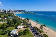 Ala Moana Beach Park , Waikiki, Honolulu, Oahu, Hawaii