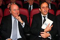 Fotball<br /> Frankrike<br /> Foto: Dppi/Digitalsport<br /> NORWAY ONLY<br /> <br /> FOOTBALL - MISCS 2006/2007 - FFF OFFICE INAUGURATION - 11/01/2007 - JOSEPH BLATTER (FIFA PDT) / MICHEL PLATINI