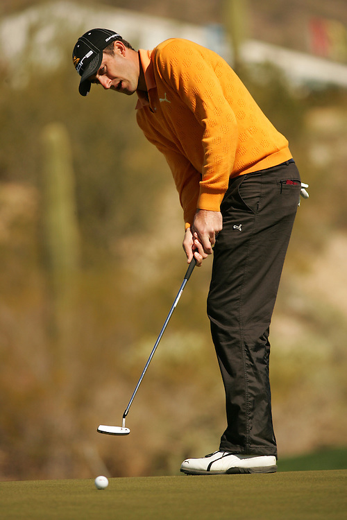 Geoff Ogilvy.2006 Accenture Match Play Championship.Fourth Round.The Gallery at Dove Mountain.South Course.Saturday, February 24 2007.02/24/07.Photograph by Darren Carroll. .