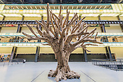 Ai Weiwei's 7-metre high sculpture of a tree - The new Tate Modern will open to the public on Friday 17 June. The new Switch House building is designed by architects Herzog & de Meuron, who also designed the original conversion of the Bankside Power Station in 2000.