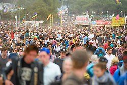 Crowds during the Glastonbury Festival at Worthy Farm in Pilton, Somerset. Picture date: Friday June 23rd, 2017. Photo credit should read: Matt Crossick/ EMPICS Entertainment.