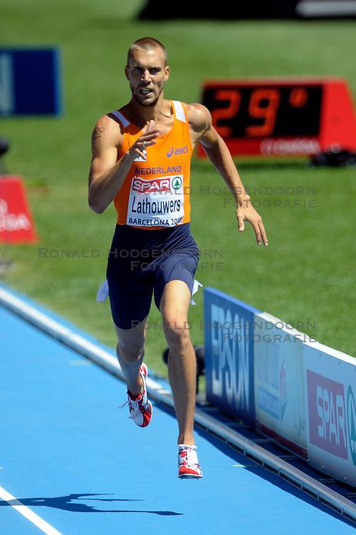 28-07-2010 ATLETIEK: EUROPEAN ATHLETICS CHAMPIONSHIPS: BARCELONA Robert Lathouwers is donderdagochtend op het EK in Barcelona gediskwalificeerd in de series van de 800 meter<br /> ©2010-WWW.FOTOHOOGENDOORN.NL