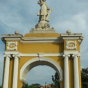 Parque del Centenario, Century Park in the Old City, Cuidad Vieja. Cartagena, Colombia.