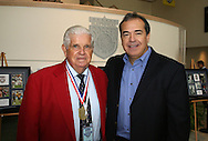28 August 2006: Hall of Famer Harry Keough (l) with his son Ty Keough (r). The National Soccer Hall of Fame Induction Ceremony was held at the National Soccer Hall of Fame in Oneonta, New York.