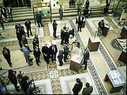 State Visit of King Juan Carlos and Queen Sophia of Spain to Ireland.<br /> 1986.<br /> 30.06.1986<br /> 06.30.1986.<br /> 30th June 1986.<br /> King Juan Carlos and Queen Sophia paid a state visit to Ireland at the invitation of President Hillery and the Irish people.<br /> The duration of the visit was three days.<br /> <br /> A view of the ground floor exhibit hall,taken from the balcony of The National Museum in Dublin.
