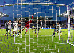 April 21, 2018 - Orlando, FL, U.S. - ORLANDO, FL - APRIL 21: Orlando City goalkeeper Joseph Bendik (1) saves a goal during the MLS soccer match between the Orlando City FC and the San Jose Earthquakes at Orlando City SC on April 21, 2018 at Orlando City Stadium in Orlando, FL. (Photo by Andrew Bershaw/Icon Sportswire) (Credit Image: © Andrew Bershaw/Icon SMI via ZUMA Press)