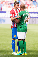 Atletico de Madrid Legends's Fernando Torres and World Legend's Marcos Senna during friendly match to farewell  to Vicente Calderon Stadium in Madrid, May 28, 2017. Spain.<br /> (ALTERPHOTOS/BorjaB.Hojas)