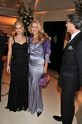 Left to right, PIXIE GELDOF and JERRY HALL at a dinner and dance hosted by Leon Max for the charity Too Many Women in support of Breakthrough Breast Cancer held at Claridges, Brook Street, London on 1st December 2011.