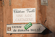 Chateau Vaille vins AOC Cartagene. Languedoc. France. Europe.
