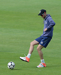 David Payne of Gloucestershire plays football before the Natwest T20 Blast game against Middlesex - Photo mandatory by-line: Dougie Allward/JMP - Mobile: 07966 386802 - 15/05/2015 - SPORT - Cricket - Bristol - Bristol County Ground - Gloucestershire County Cricket v Middlesex County Cricket - NatWest T20 Blast