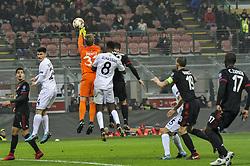 November 23, 2017 - Milan, Italy - Patrick Pentz of FK Austria Wien during uefa Europa League AC Milan vs FK Austria Wien at San Siro Stadium (Credit Image: © Gaetano Piazzolla/Pacific Press via ZUMA Wire)