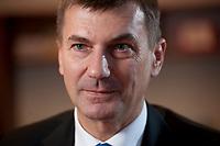 21 OCT 2010, BERLIN/GERMANY:<br /> Andrus Ansip, Premierminister Estlands und Vorsitzender der Estnischen Reformpartei, waehrend einem Interview, Botschaft vonm Estland<br /> IMAGE: 20101021-01-018
