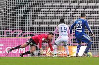 Goal Yassine BENZIA - 07.12.2014 - Evian Thonon / Lyon - 17eme journee de Ligue 1 -<br />Photo : Jean Paul Thomas / Icon Sport