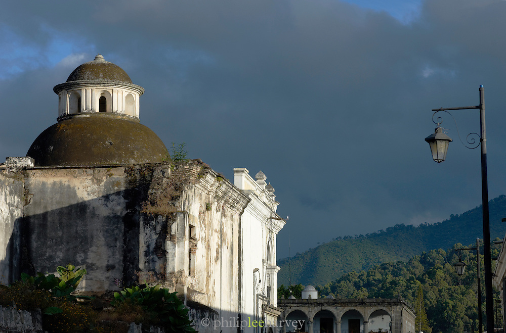 An old colonial building in Antigua, a UNESCO World Heritage Site in Guatemala