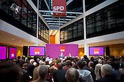 Sede centrale della SPD Willy-Brantd Haus, Berlino. Attesa per le elezioni in Baviera.