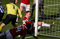 Middlesbrough's Duncan Watmore scores his side's third goal from close range<br /> <br /> Photographer Alex Dodd/CameraSport<br /> <br /> The EFL Sky Bet Championship - Middlesbrough v Sheffield Wednesday - Saturday 24th April 2021 - Riverside Stadium - Middlesbrough<br /> <br /> World Copyright © 2021 CameraSport. All rights reserved. 43 Linden Ave. Countesthorpe. Leicester. England. LE8 5PG - Tel: +44 (0) 116 277 4147 - admin@camerasport.com - www.camerasport.com
