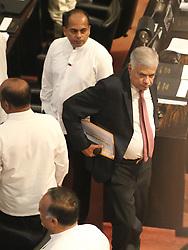 November 19, 2018 - Sri Lanka - Sri Lanka's ousted Prime Minister Ranil Wickremesinghe looks on as he leaves the parliament in Colombo, Sri Lanka,Monday, November 19, 2018. (Credit Image: © Pradeep Dambarage/Pacific Press via ZUMA Wire)