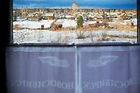 Russie, Siberie, train transsiberien, paysage sur le trajet en Siberie // Russia, Trans-Siberian train in Siberia, Siberan landscape through the window