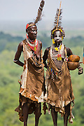 two mature Karo tribe women. Omo Valley, Ethiopia