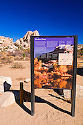 Interpretive sign at the trailhead to Barker Dam, Joshua Tree National Park, California