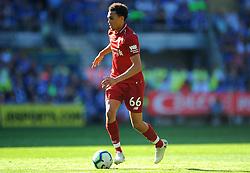 Trent Alexander-Arnold of Liverpool in action- Mandatory by-line: Nizaam Jones/JMP - 21/04/2019 -  FOOTBALL - Cardiff City Stadium - Cardiff, Wales -  Cardiff City v Liverpool - Premier League