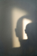 double face shadow on a wall
