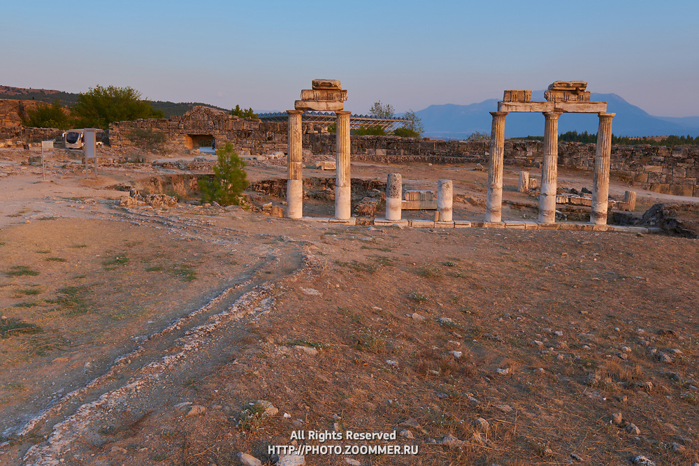 Ruins of Hierapolis Roman city near Pamukkale, Turkey