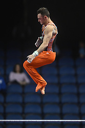 March 2, 2019 - Greensboro, North Carolina, US - BART DEURLOO from the Netherlands competes on the high bar at the Greensboro Coliseum in Greensboro, North Carolina. (Credit Image: © Amy Sanderson/ZUMA Wire)