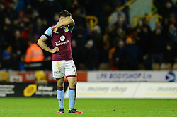 James Chester of Aston Villa cuts a dejected figure - Mandatory by-line: Dougie Allward/JMP - 14/01/2017 - FOOTBALL - Molineux - Wolverhampton, England - Wolverhampton Wanderers v Aston Villa - Sky Bet Championship