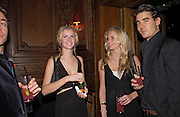 Chloe and Poppy Delavigne and Louis Buckworth, Tatler magazine Little Black Book party, Tramp. Jermyn St. 10 November 2004. ONE TIME USE ONLY - DO NOT ARCHIVE  © Copyright Photograph by Dafydd Jones 66 Stockwell Park Rd. London SW9 0DA Tel 020 7733 0108 www.dafjones.com