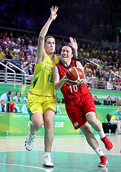 England's Eilidh Simpson (right) and Australia's Belinda Snell (left) in the Women's Gold Medal Game at the Gold Coast Convention and Exhibition Centre during day ten of the 2018 Commonwealth Games in the Gold Coast, Australia.