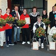 Nieuwjaarsreceptie gemeente Huizen 2000, uitreiking Huizer Sportprijzen
