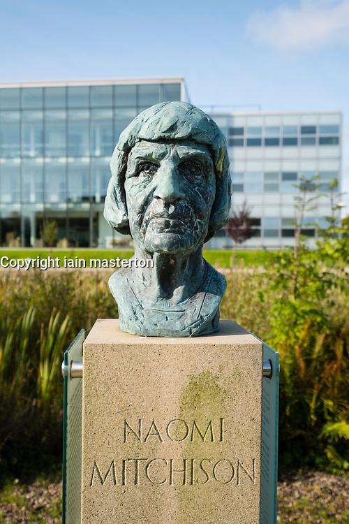 Bust of Scottish novelist and poet Naomi Mitchison at  at Edinburgh Park a modern business park at South Gyle in Edinburgh, Scotland, United Kingdom.