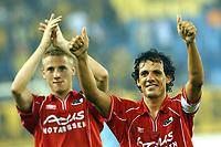 Fotball<br /> Nederland 2004/05<br /> AZ Alkmaar <br />  Jose Fortes Rodriquez bedank zijn publiek<br /> Foto: Digitalsport<br /> NORWAY ONLY