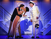 "April 7, 2016, East Haddam, CT<br /> Mara Lavitt -- Special to the Hartford Courant<br /> The run-through of  the classic Cole Porter musical ""Anything Goes"" being performed at Goodspeed Musicals in East Haddam. David Harris as Billy Crocker, Rashidra Scott as Reno Sweeney with Patrick Richwood at the Purser, right."