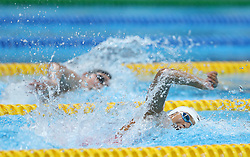 JAKARTA, Aug. 19,2018  Chinese swimmer Yang Junxuan competes in the women's 4x100m Freestyle Relay final of the 18th Asian Games in Jakarta, Indonesia, Aug. 19, 2018. (Credit Image: © Fei Maohua/Xinhua via ZUMA Wire)