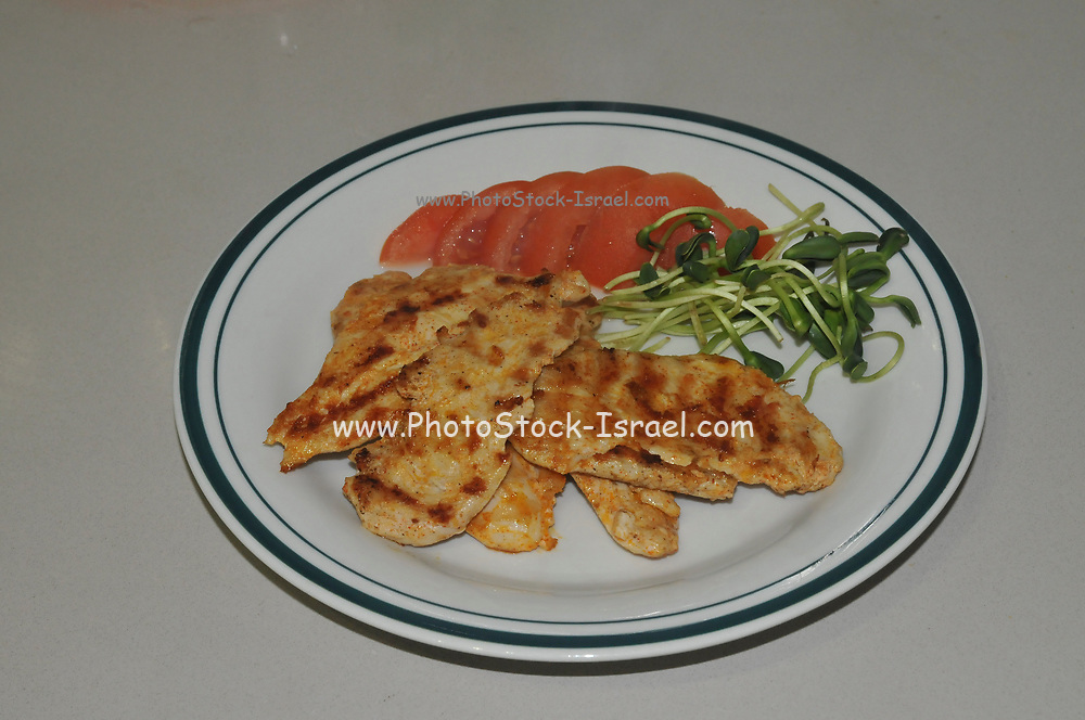 Home cooked meal Char Grilled Chicken breast