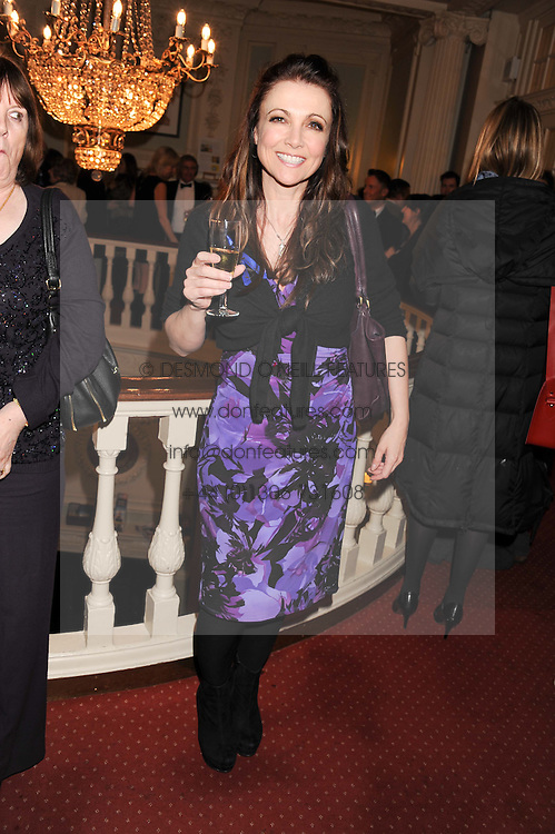 Actress EMMA SAMMS at an after show party following the 1st preview show of the new show Top Hat in aid of the charity Starlight held at the Aldwych Theatre, London on 19th April 2012.