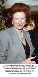 The DOWAGER COUNTESS OF CAWDOR, at a dinner in London on 24th May 2004.PUJ 385 wolo